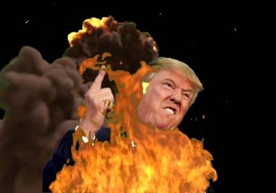 Donald Trump speelt met vuur, maar dat beseft hijzelf niet